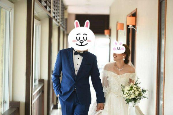 タイの結婚式 ウエディングドレスとタキシード