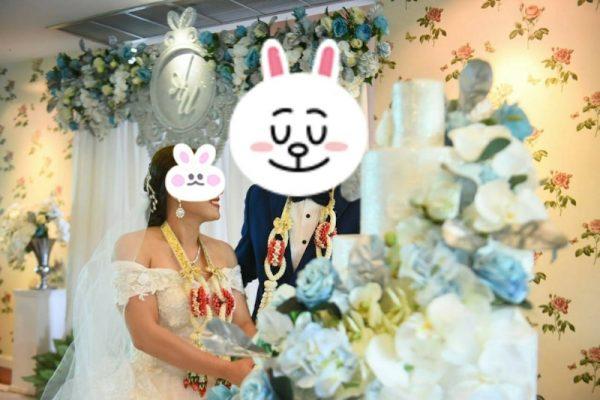 タイの結婚式 ラブラブなカップル