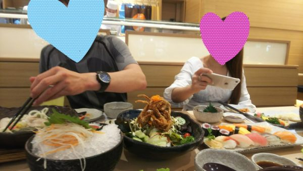 タイ女性と日本食を堪能
