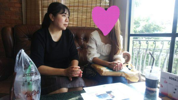 兵庫県30代様とお見合いをするタイ女性とスタッフ