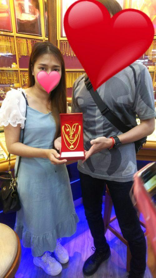 兵庫県30代様 タイ女性の彼女にプレゼント