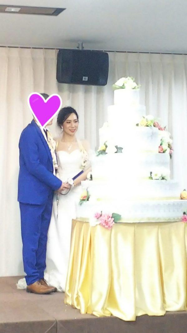 タイ東北で国際結婚 ケーキカット