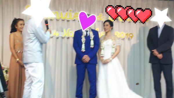 タイ東北で国際結婚 友人のスピーチ