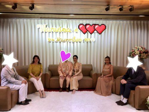 タイ東北で国際結婚 記念撮影の様子