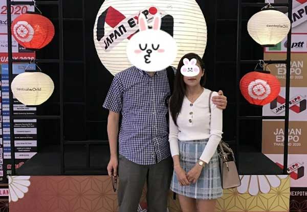 東京都50代様 タイ女性Pさんとデート&婚約