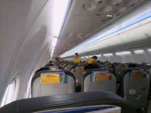 タイ女性を面接 飛行機内