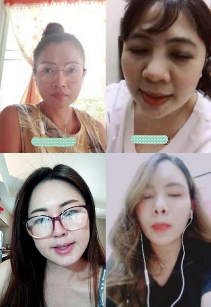 タイ人女性とオンライン面談