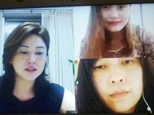 タイ女性 2度目のオンライン面接